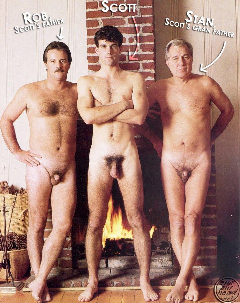 Hommes nus du grand père au petit-fils : 19 septembre 2010