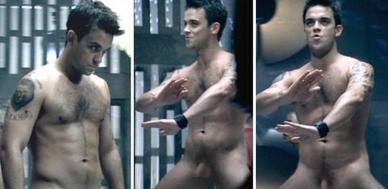 Un homme célèbre nu : Robbie Williams nu intégral