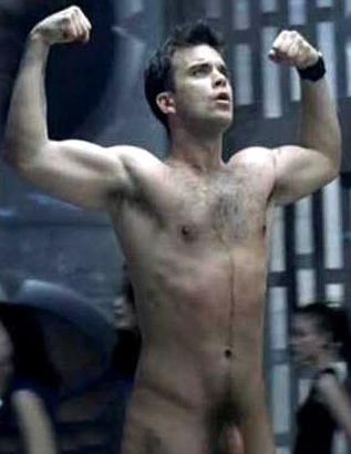 Un homme célèbre nu : Robbie Williams nu, 1