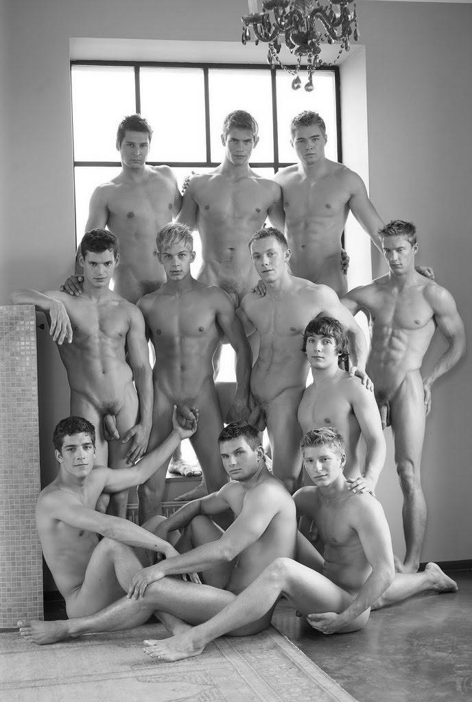 nude men in groups