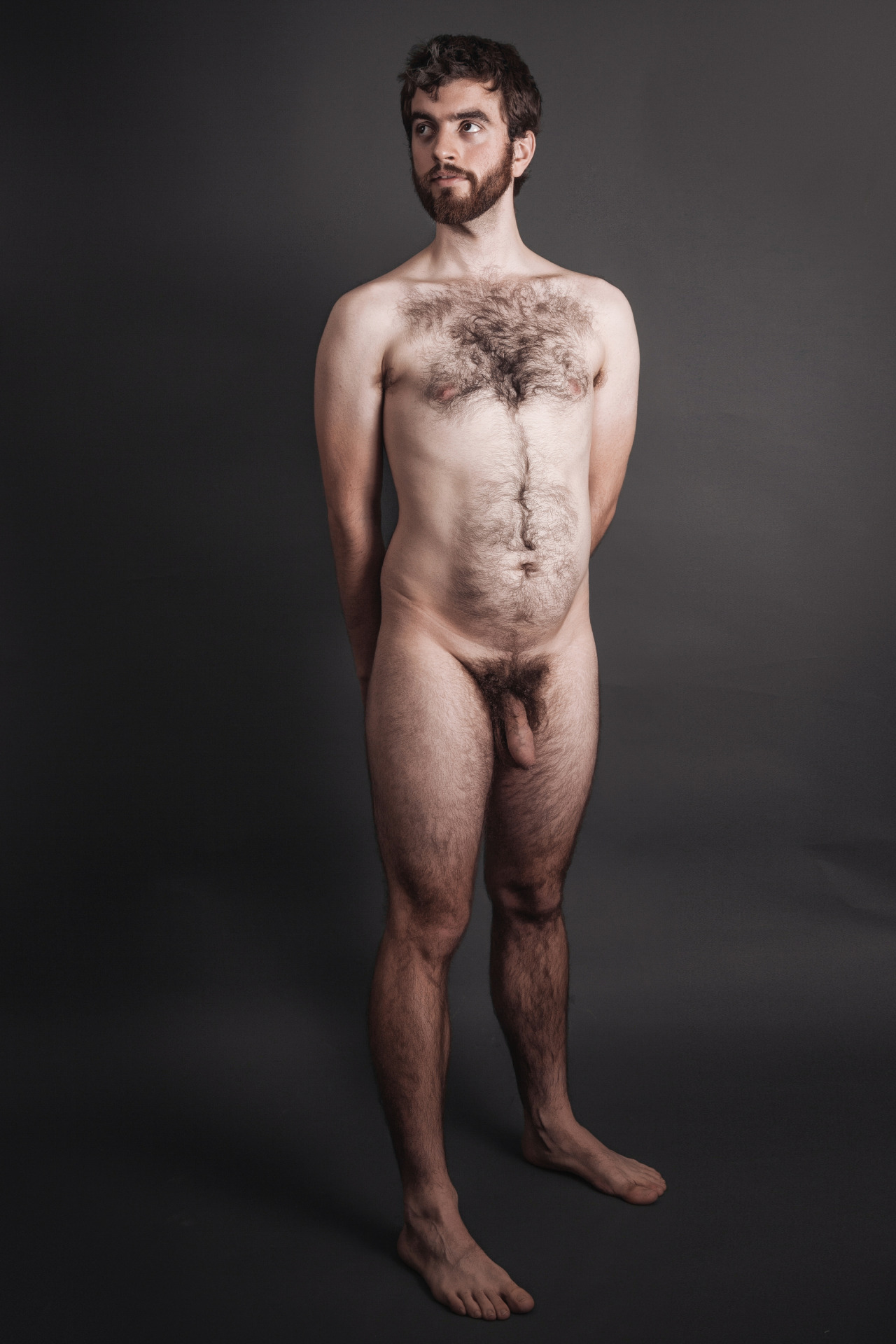 Sexy, hairy naked image photo