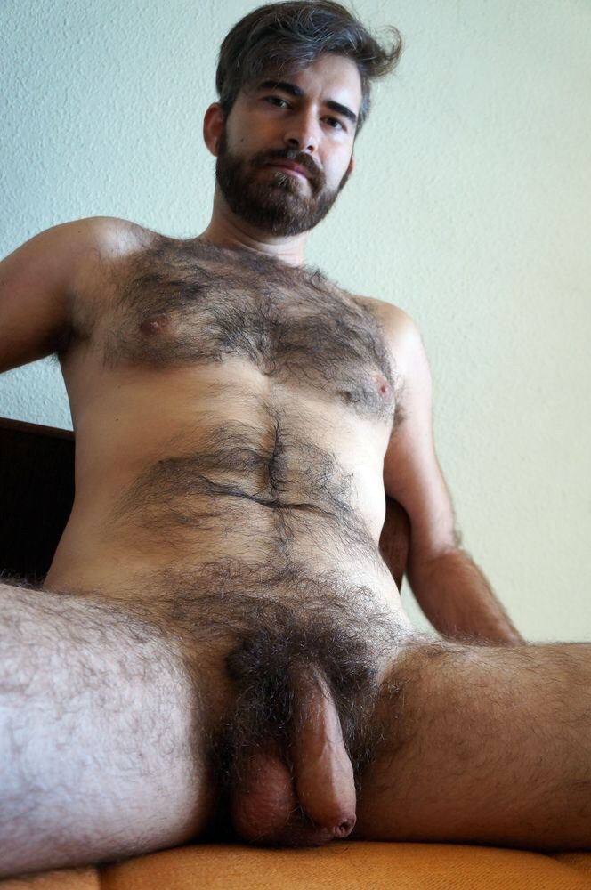 Remarkable, very hairy men nude those