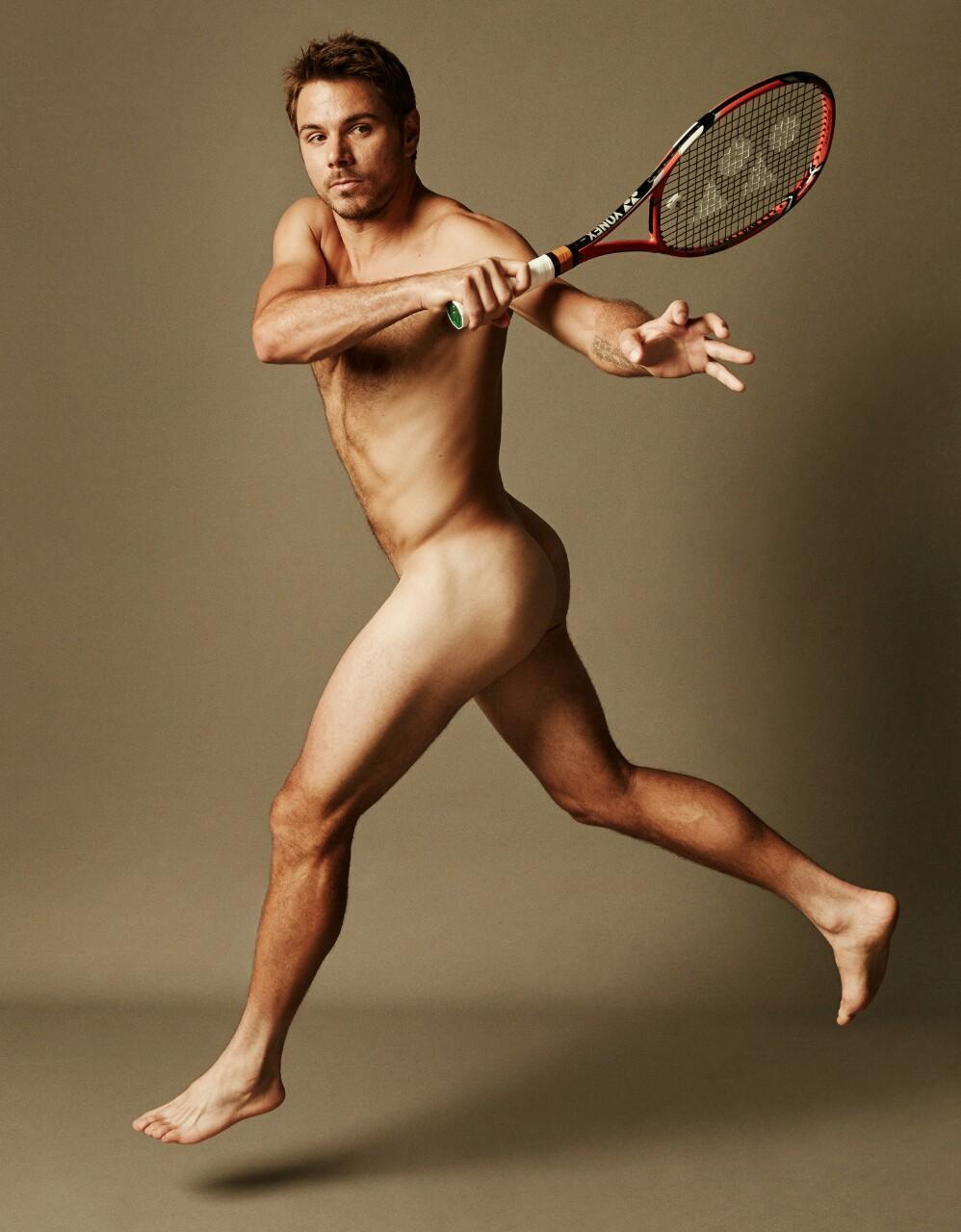 Photo d'un homme célèbre nu : Stan Wawrinka avec de belles fesses